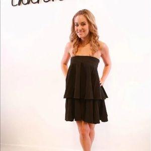 Lauren Conrad bow tube dress black